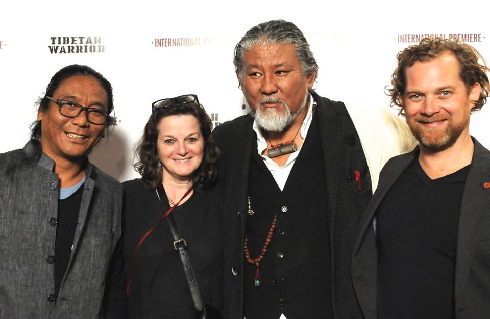Director Dodo Hunziker (Far Right) and Loten Namling (Second from Right) at the Premiere Photo: Facebook/Janestein
