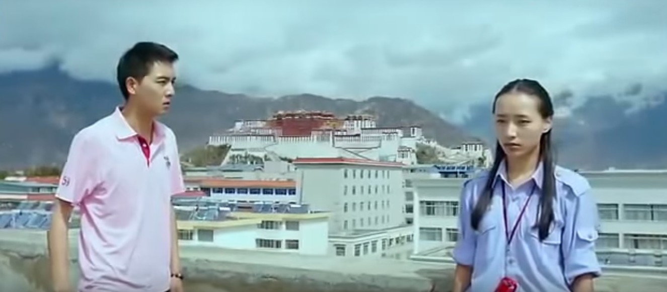 Video grab from the film. Yangchuk Tso on right.